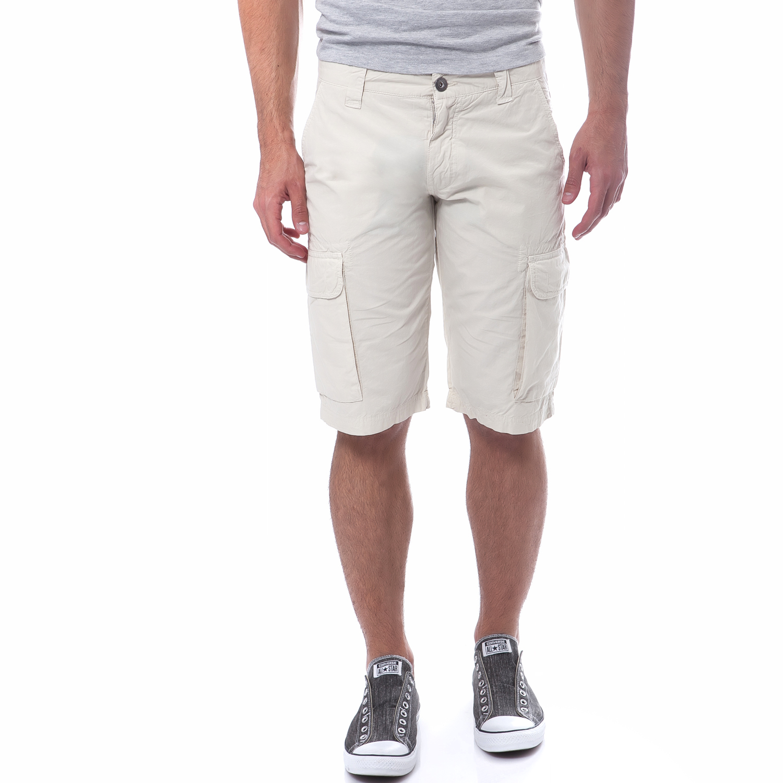 HELLY HANSEN - Ανδρική βερμούδα Helly Hansen μπεζ ανδρικά ρούχα σορτς βερμούδες casual jean