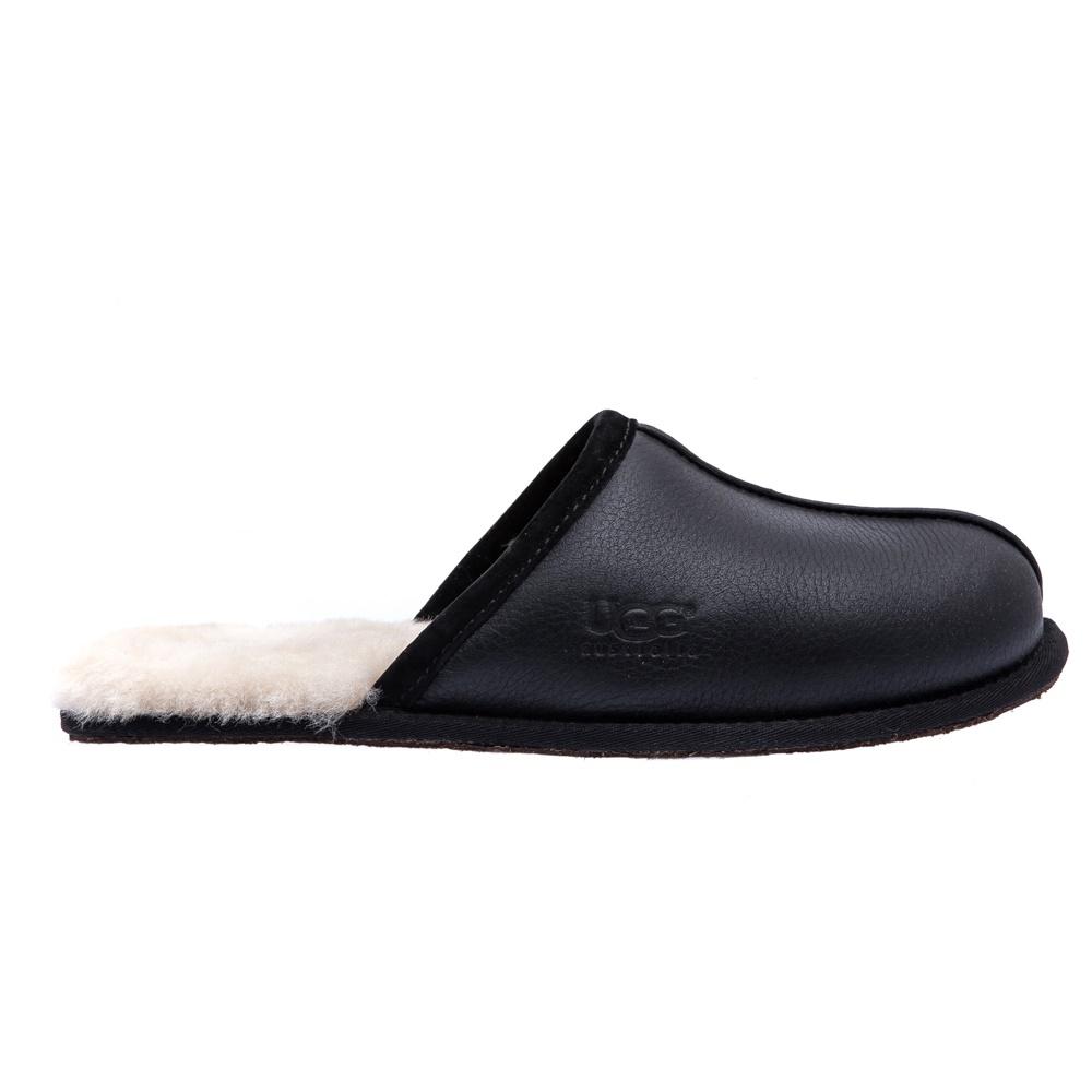 UGG AUSTRALIA - Ανδρικές παντόφλες Ugg Australia μαύρες ανδρικά παπούτσια παντόφλες