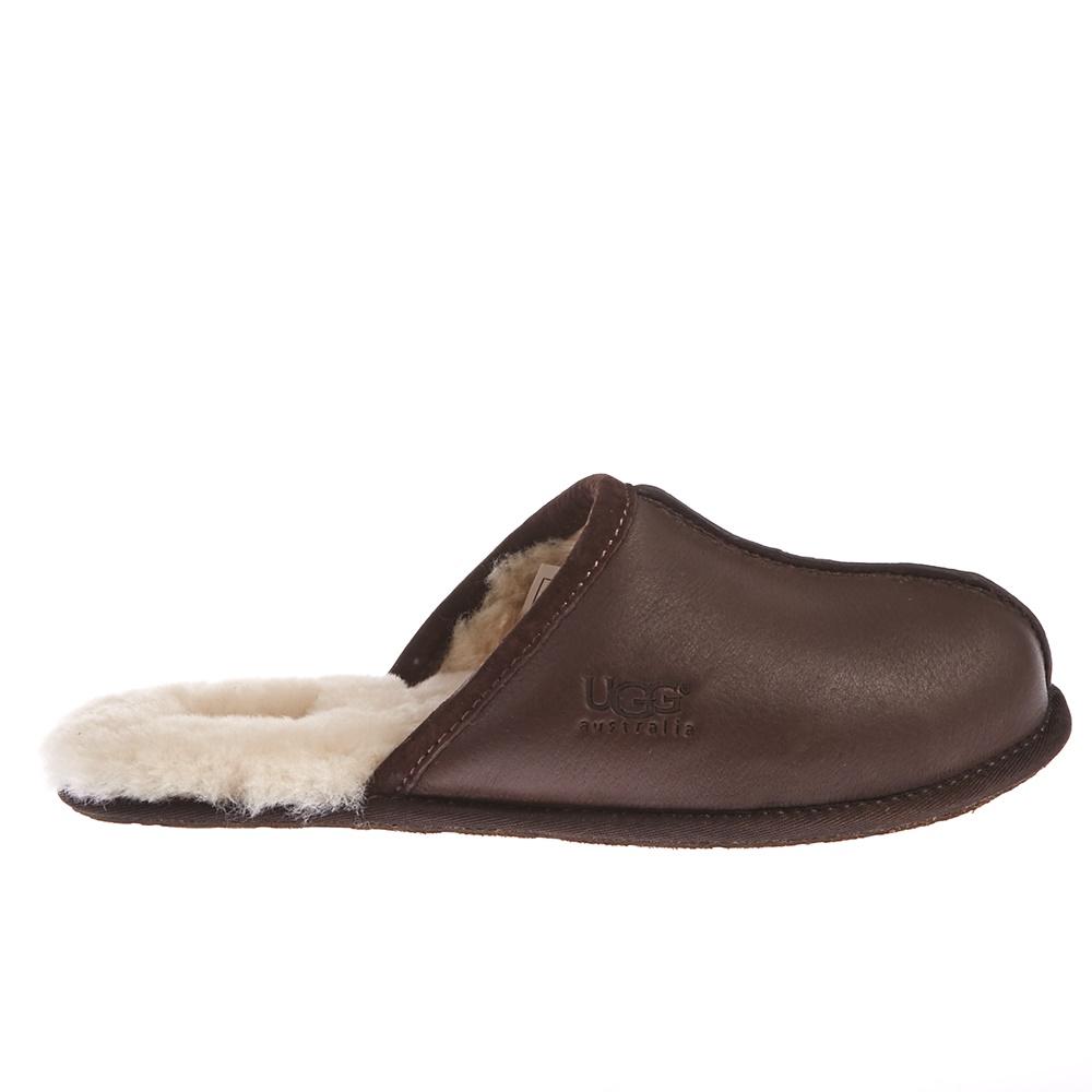 UGG AUSTRALIA - Ανδρικές παντόφλες Ugg Australia καφέ ανδρικά παπούτσια παντόφλες