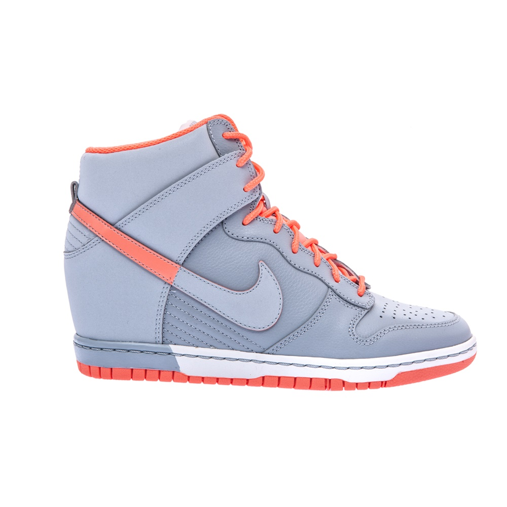 NIKE - Γυναικεία παπούτσια NIKE DUNK SKY HI γκρι γυναικεία παπούτσια αθλητικά basketball