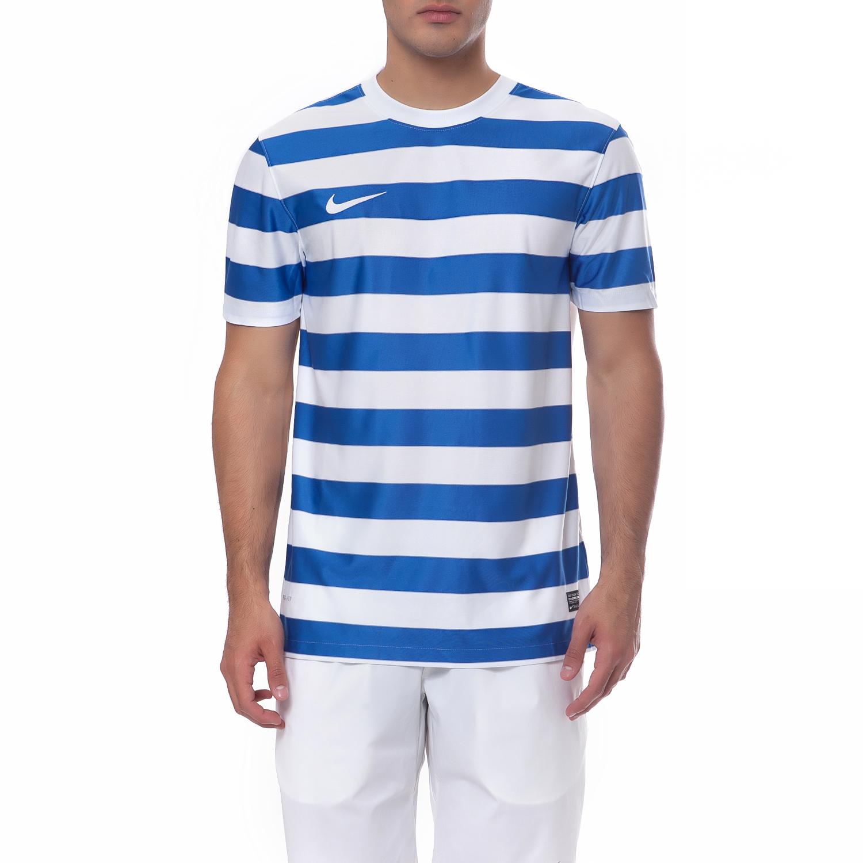 NIKE - Ανδρική μπλούζα Nike λευκή-μπλε