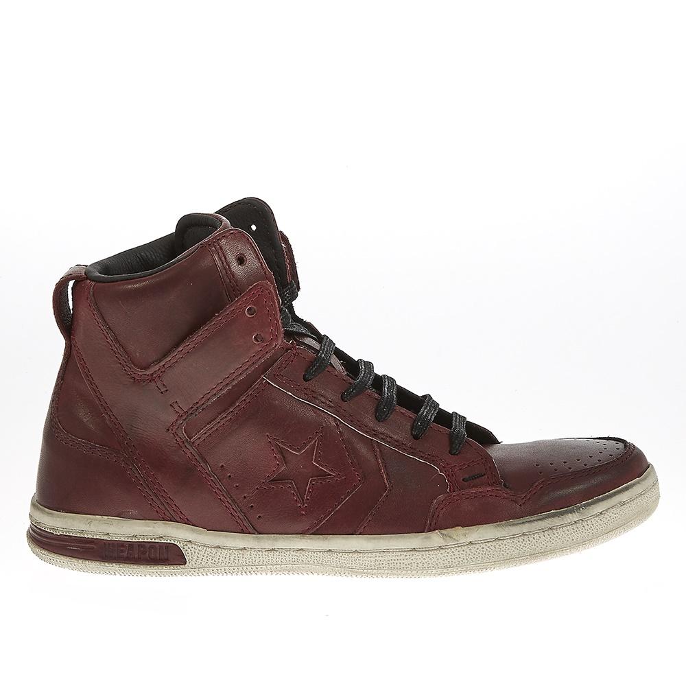 CONVERSE - Unisex μποτάκια John Varvatos μπορντώ γυναικεία παπούτσια sneakers