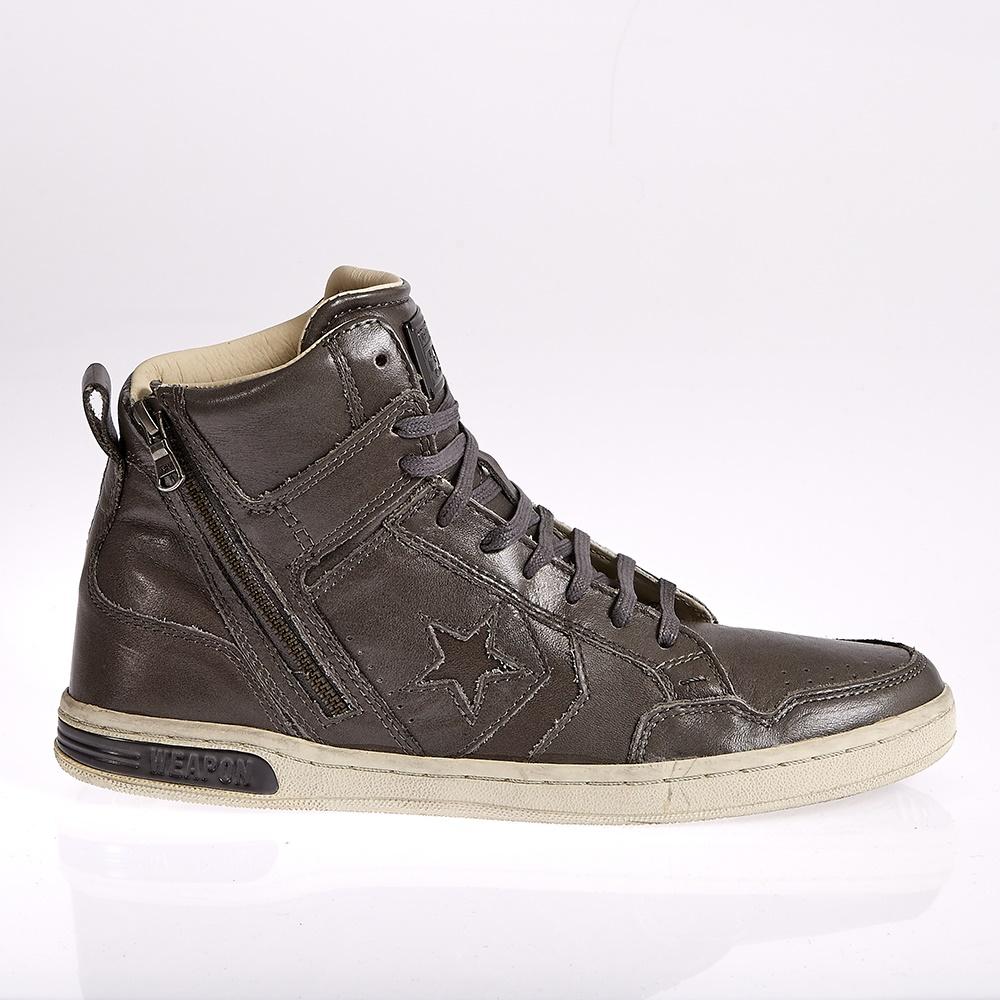 CONVERSE - Unisex μποτάκια John Varvatos καφέ-ανθρακί ανδρικά παπούτσια sneakers