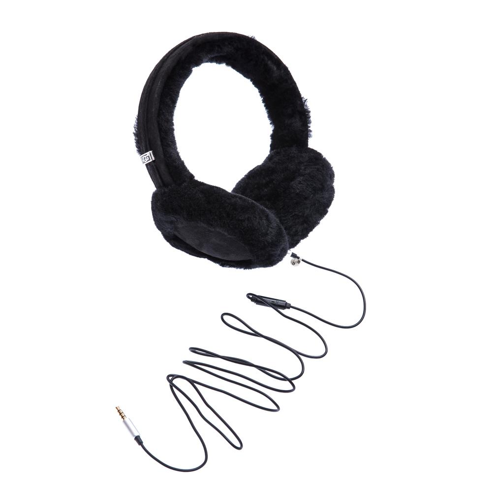 UGG AUSTRALIA - Γυναικεία γούνινα αυτάκια-ακουστικά Ugg Australia μαύρα γυναικεία αξεσουάρ λοιπά