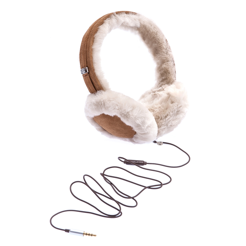 UGG AUSTRALIA - Γυναικεία γούνινα αυτάκια-ακουστικά Ugg Australia καφέ γυναικεία αξεσουάρ λοιπά