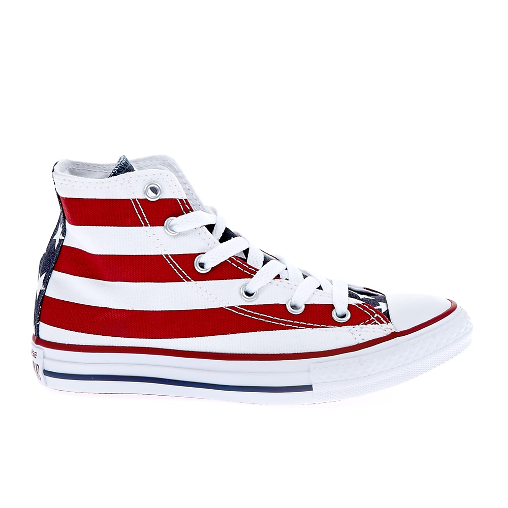 CONVERSE – Παιδικά παπούτσια Chuck Taylor All Star Hi λευκά-κόκκινα