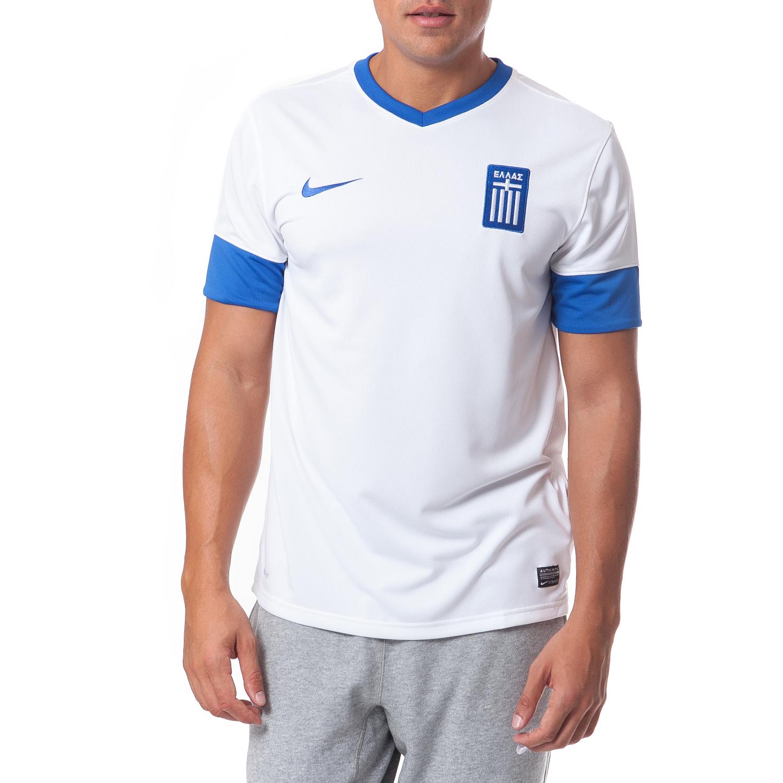 NIKE - Ανδρική μπλούζα Nike εθνικής Ελλάδος λευκή ανδρικά ρούχα αθλητικά t shirt