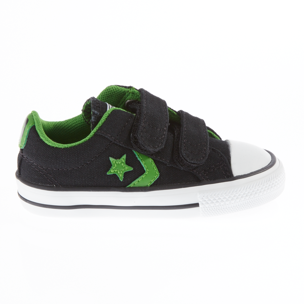 CONVERSE - Βρεφικά παπούτσια Star Player μαύρα παιδικά baby παπούτσια sneakers