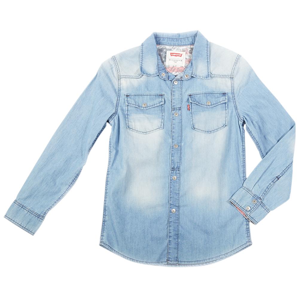 LEVI S KIDS - Παιδικό τζιν πουκάμισο Levi s Kids 872ec0f0a10