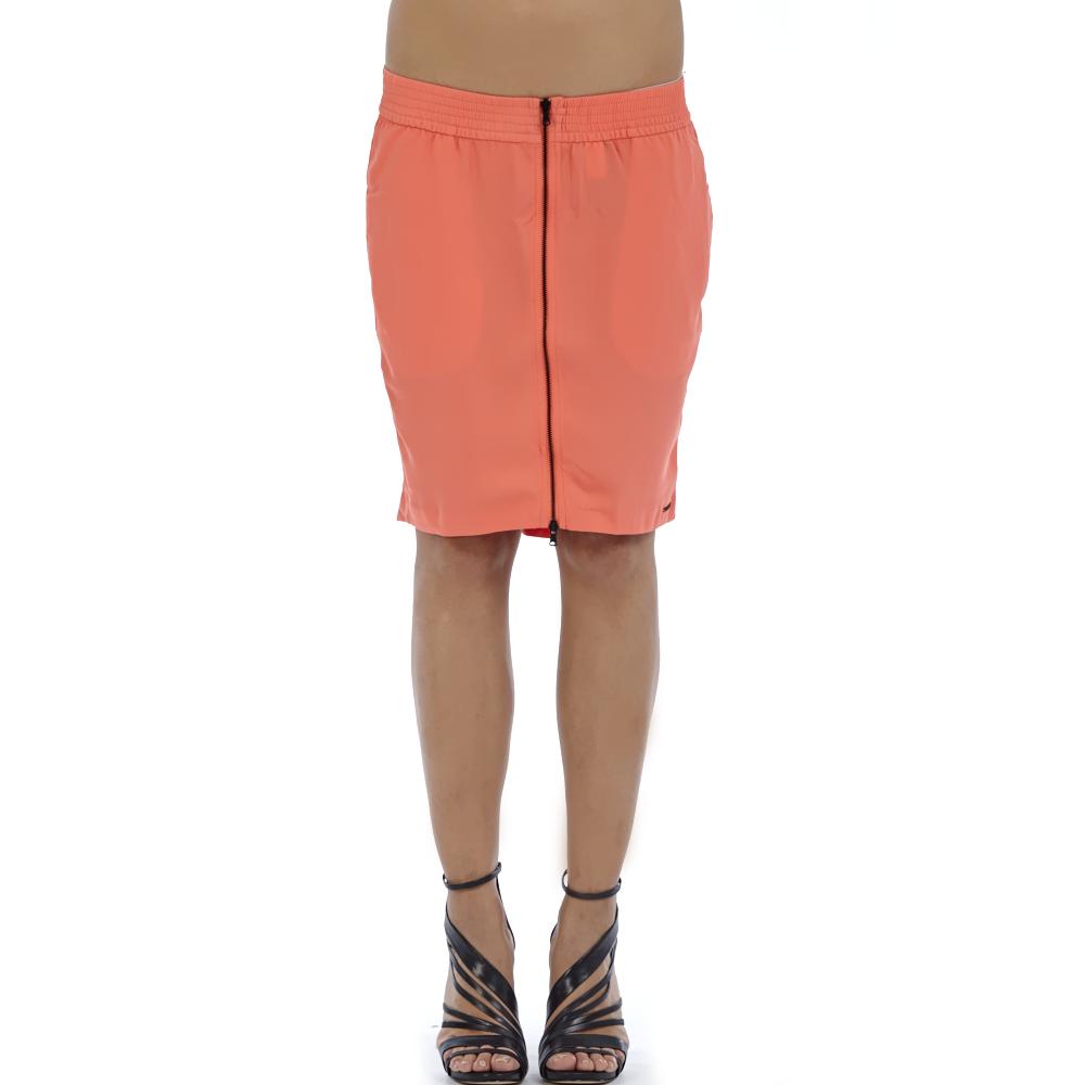 CALVIN KLEIN JEANS - Γυναικεία φούστα Calvin Klein Jeans κοραλί γυναικεία ρούχα φούστες μέχρι το γόνατο