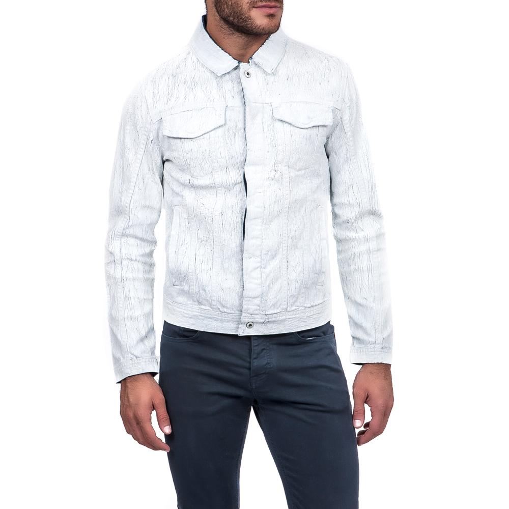 CALVIN KLEIN JEANS - Ανδρικό μπουφάν Calvin Klein Jeans λευκό ανδρικά ρούχα πανωφόρια μπουφάν