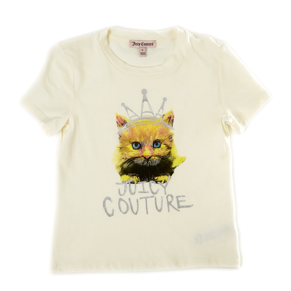 JUICY COUTURE KIDS - Παιδική μπλούζα JUICY COUTURE λευκή