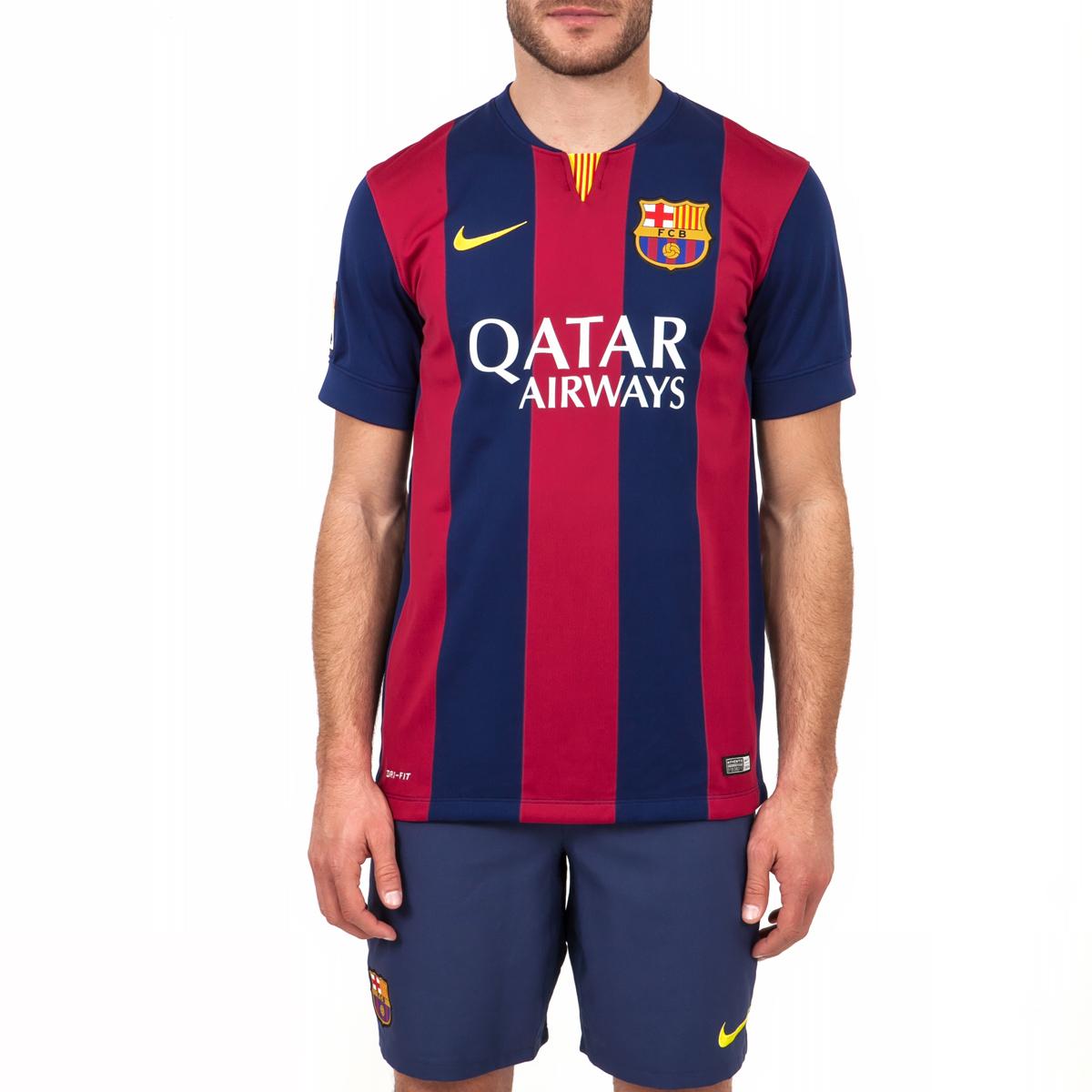 NIKE - Ανδρική μπλούζα Nike FC Barcelona μπλε-μπορντώ ανδρικά ρούχα αθλητικά t shirt