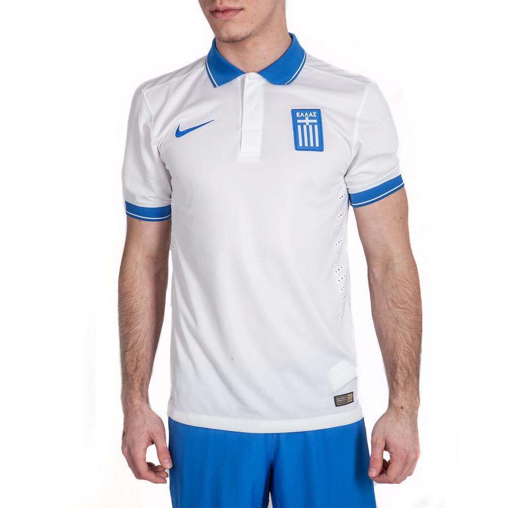 NIKE - Ανδρική μπλούζα πόλο Εθνικής Ελλάδος Nike λευκή ανδρικά ρούχα αθλητικά t shirt