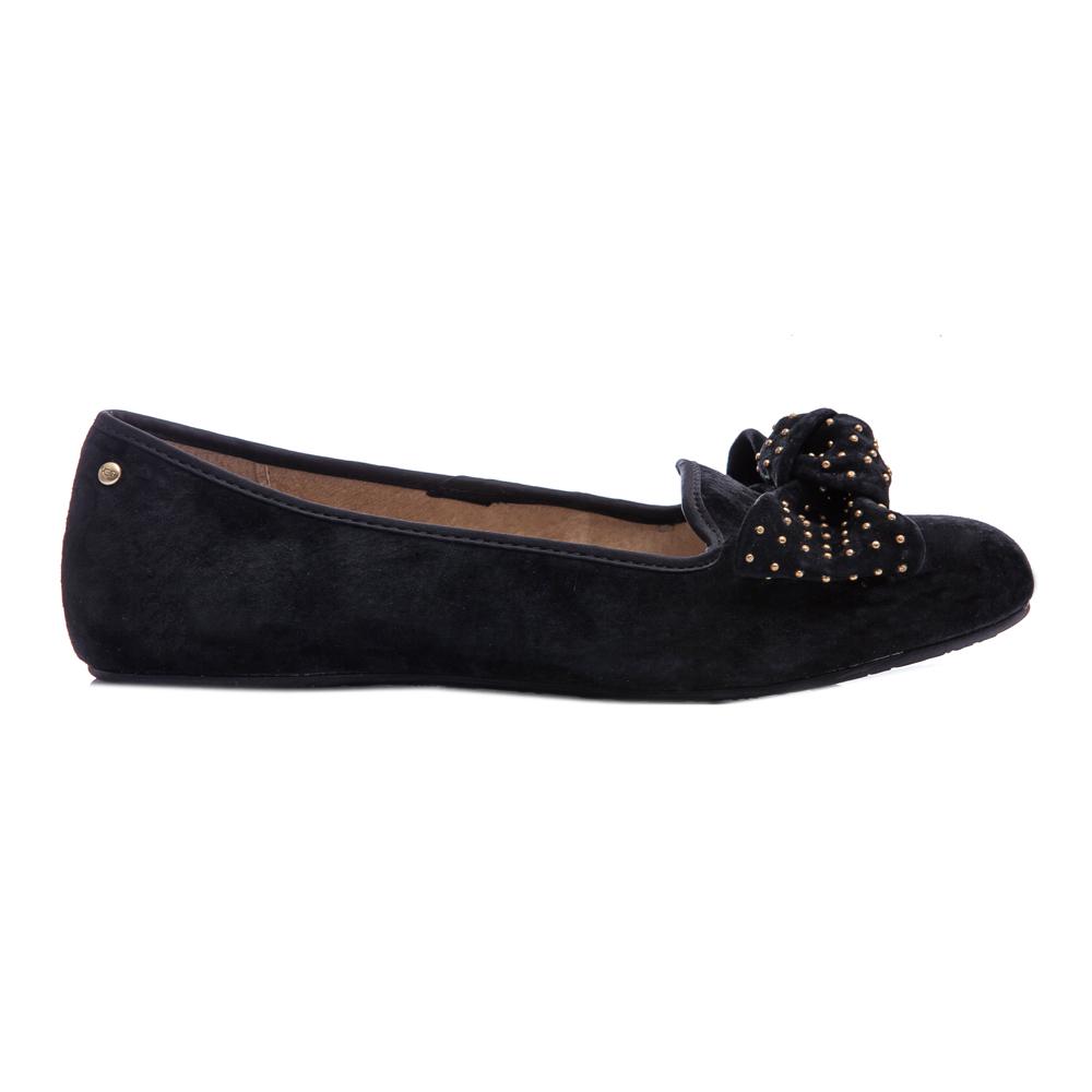 UGG AUSTRALIA - Γυναικείες μπαλαρίνες Ugg Australia μαύρες γυναικεία παπούτσια μοκασίνια μπαλαρίνες μπαλαρίνες