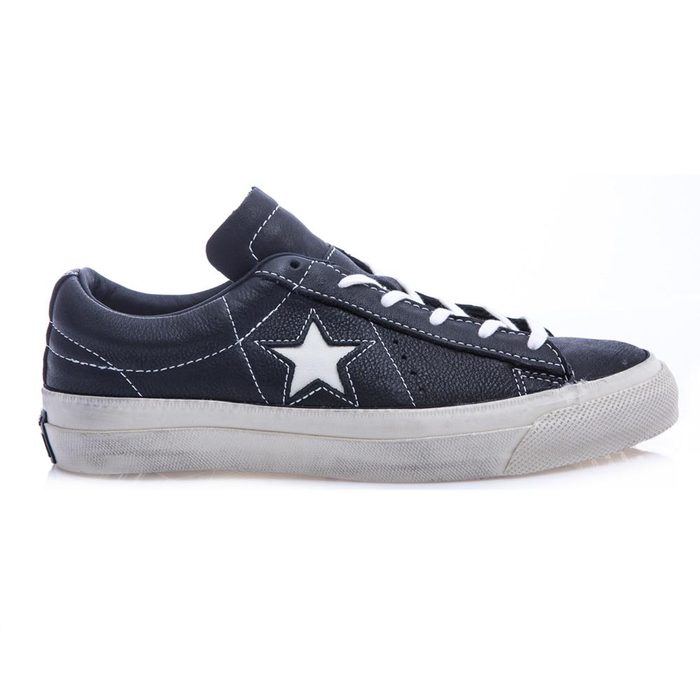 CONVERSE - Unisex παπούτσια John Varvatos One Star μαύρα ανδρικά παπούτσια sneakers