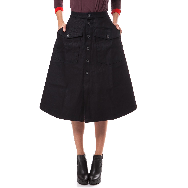 G-STAR RAW - Γυναικεία φούστα G-Star Raw μπλε-μαύρη γυναικεία ρούχα φούστες μέχρι το γόνατο