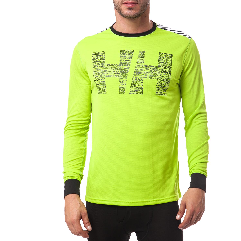 HELLY HANSEN - Ανδρική εσωθερμική μπλούζα Helly Hansen κίτρινη-πράσινη