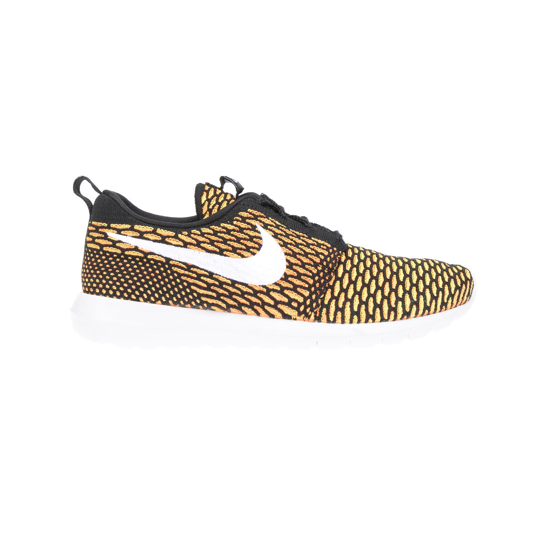 NIKE – Αντρικά παπούτσια NIKE ROSHE NM FLYKNIT μαύρα-πορτοκαλί
