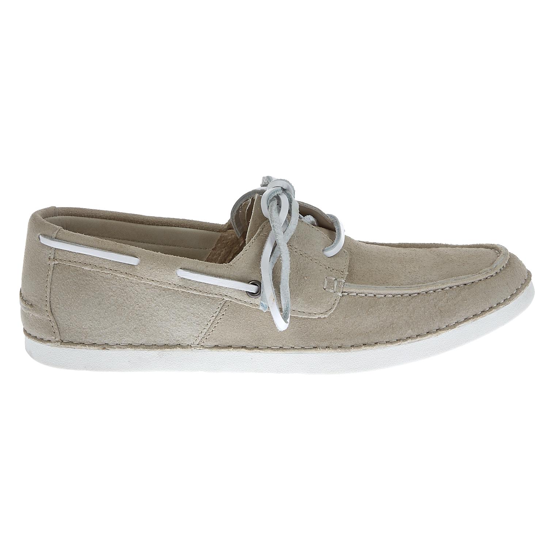 UGG AUSTRALIA - Ανδρικά μοκασίνια Ugg Australia γκρι-μπεζ ανδρικά παπούτσια μοκασίνια loafers