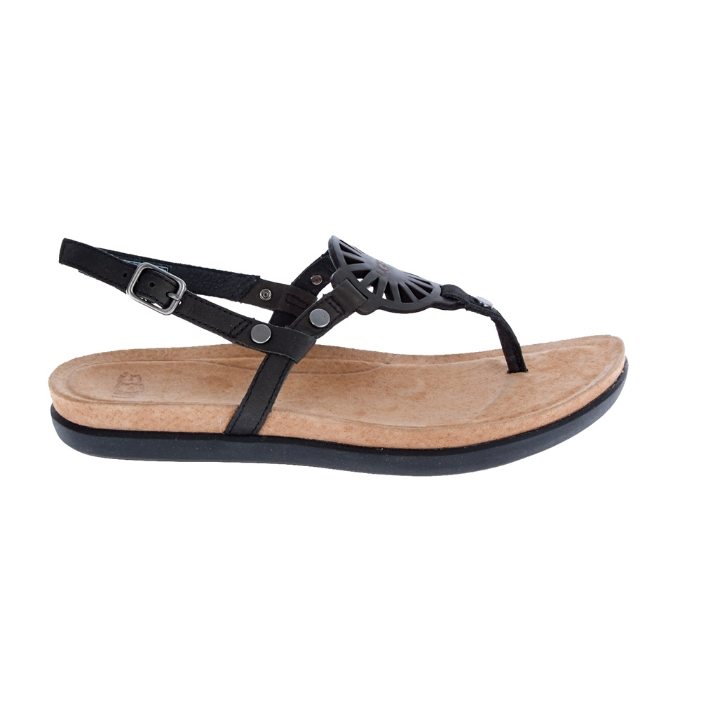 UGG AUSTRALIA - Γυναικεία σανδάλια Ugg Australia μαύρα γυναικεία παπούτσια πέδιλα