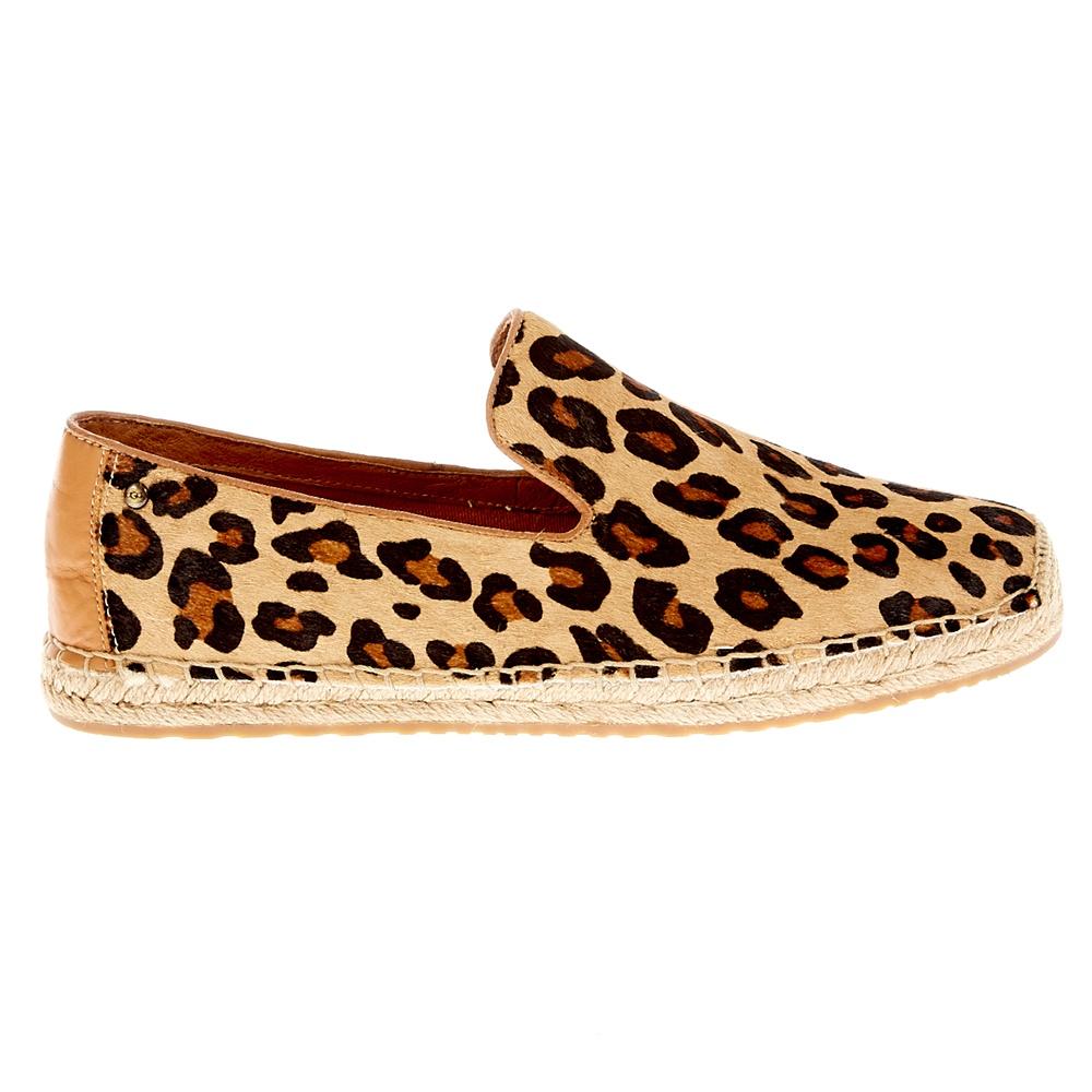 UGG AUSTRALIA - Γυναικεία παπούτσια Ugg Australia μπεζ-μαύρα γυναικεία παπούτσια μοκασίνια μπαλαρίνες μοκασίνια