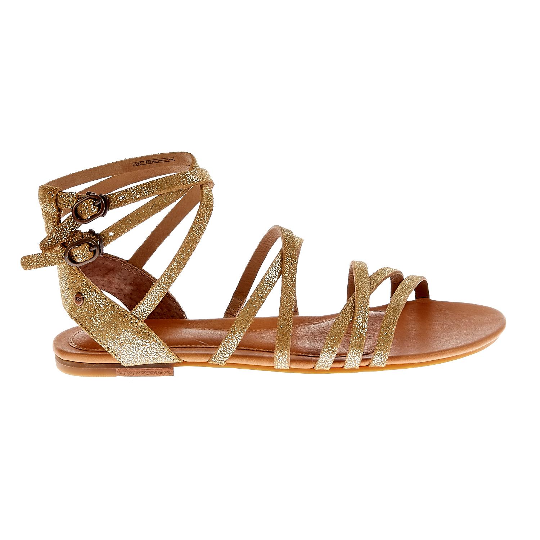 UGG AUSTRALIA - Γυναικεία σανδάλια Ugg Australia χρυσή απόχρωση γυναικεία παπούτσια πέδιλα