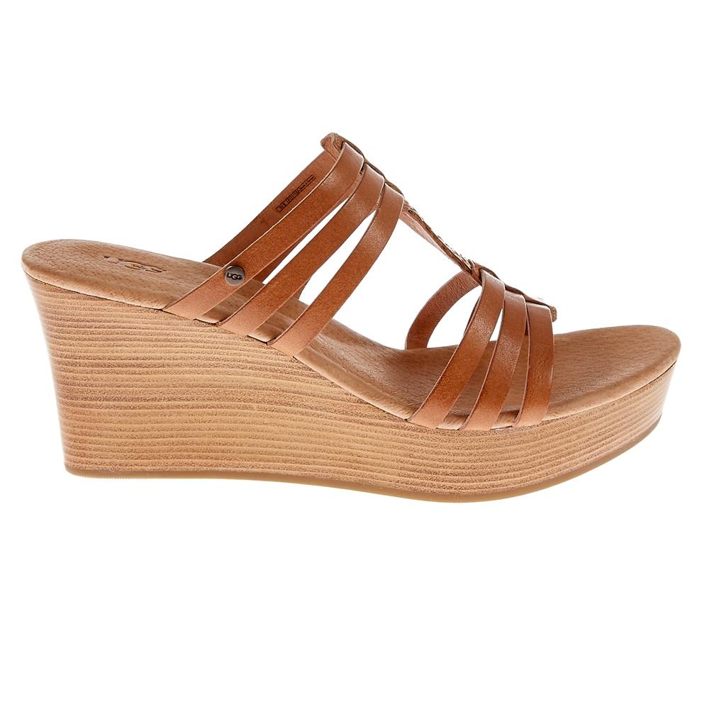 UGG AUSTRALIA - Γυναικείες πλατφόρμες Ugg Australia καφέ γυναικεία παπούτσια πλατφόρμες