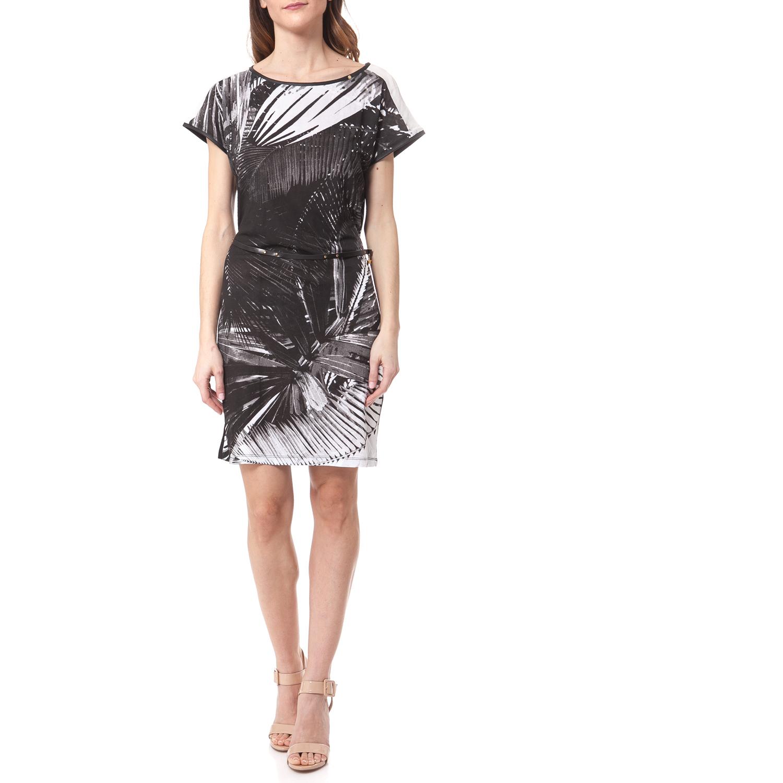 GAS - Γυναικείο φόρεμα Gas μαύρο-λευκό γυναικεία ρούχα φορέματα μίνι