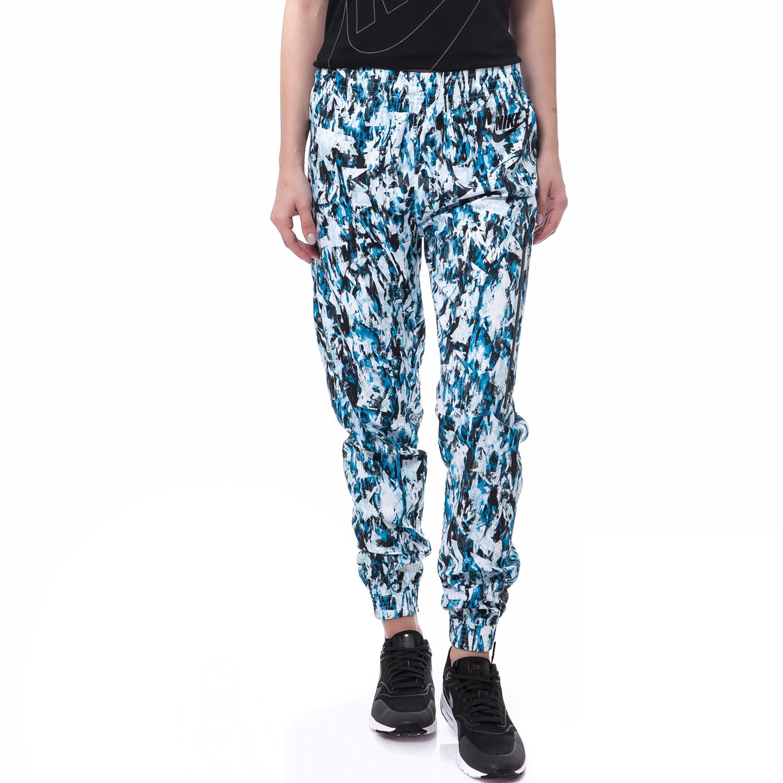 NIKE - Γυναικείο παντελόνι Nike μπλε-μαύρο γυναικεία ρούχα αθλητικά φόρμες
