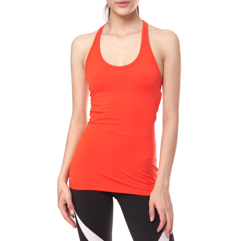 NIKE - Γυναικείο αθλητικό φανελάκι NIKE GET FIT TANK πορτοκαλί γυναικεία ρούχα αθλητικά t shirt τοπ