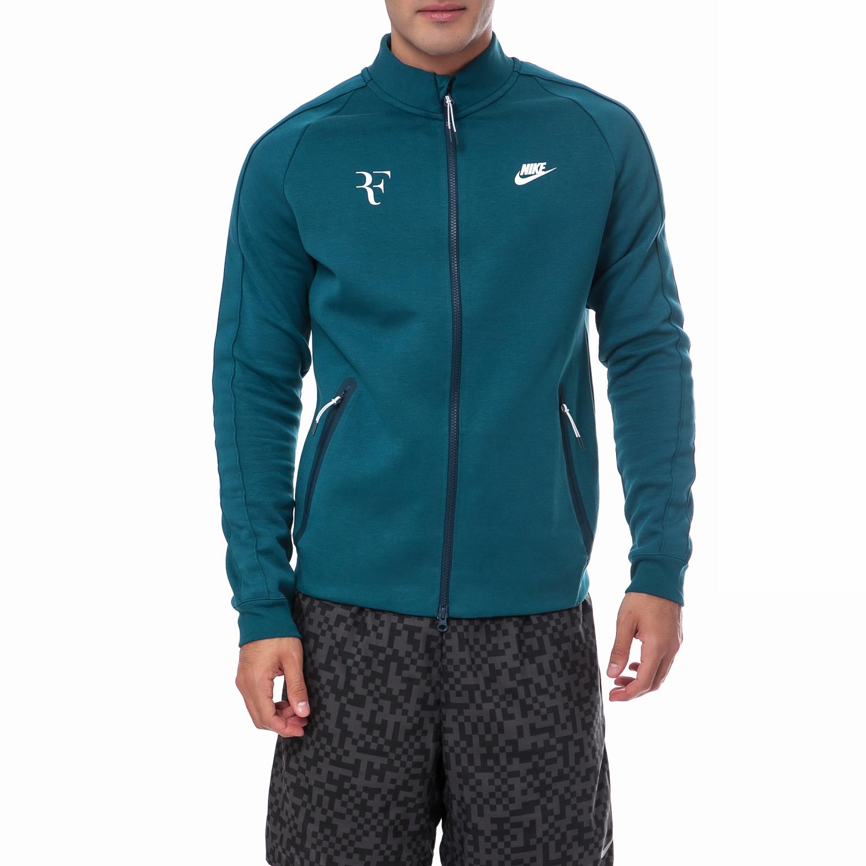 NIKE - Ανδρική ζακέτα Nike πράσινη-μπλε ανδρικά ρούχα αθλητικά φούτερ μακρυμάνικα