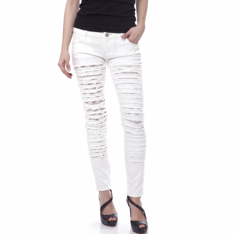 b8d97563df9e GUESS - Γυναικείο παντελόνι Guess λευκό