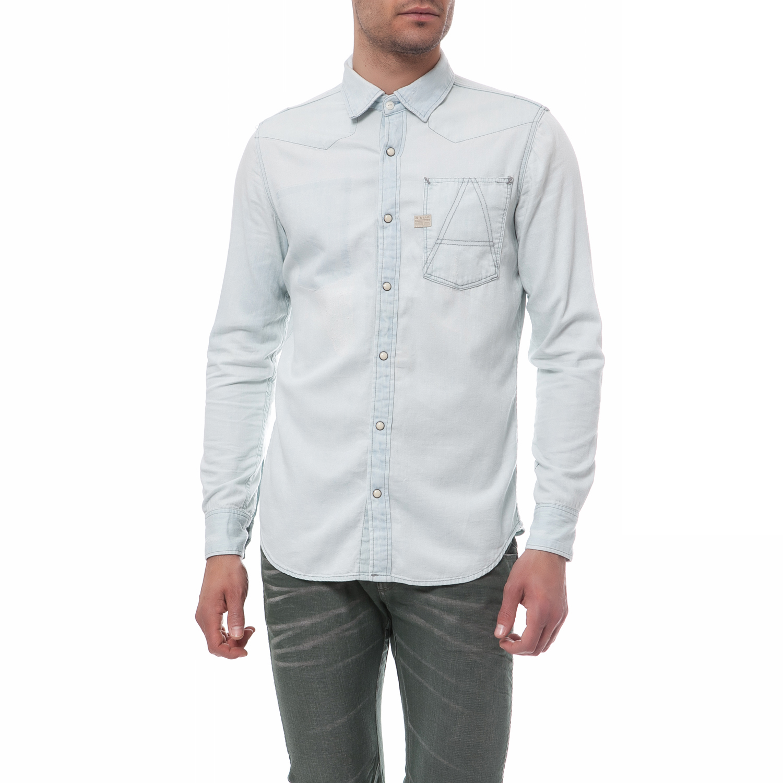 G-STAR RAW - Ανδρικό τζιν πουκάμισο G-Star Raw μπλε μακρυμάνικο