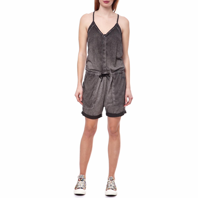 G-STAR RAW - Γυναικεία ολόσωμη φόρμα G-Star Raw καφέ-ανθρακί γυναικεία ρούχα ολόσωμες φόρμες