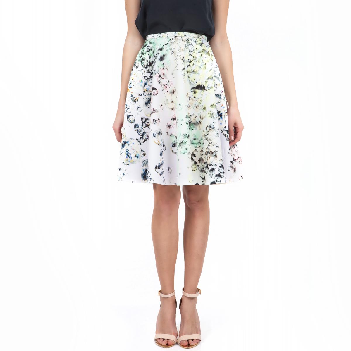 TED BAKER - Γυναικεία φούστα Ted Baker λευκή γυναικεία ρούχα φούστες μέχρι το γόνατο