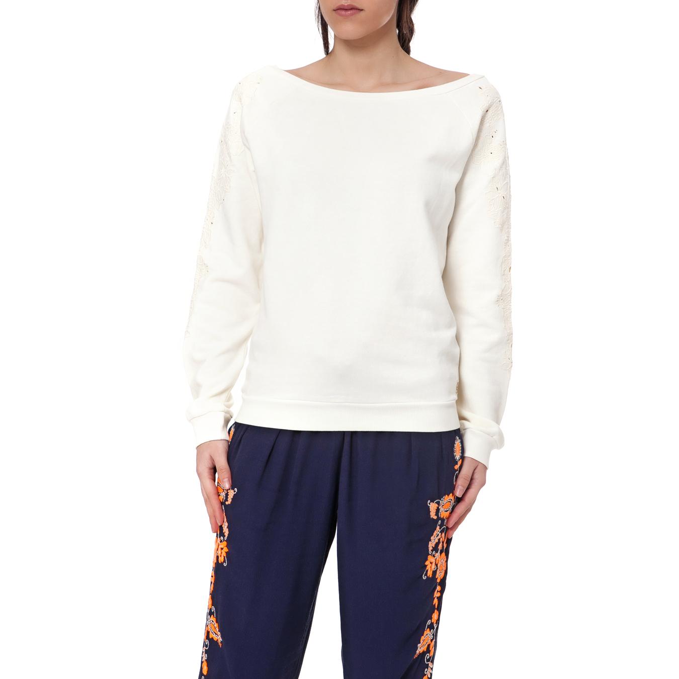 JUICY COUTURE - Γυναικείο πουλόβερ Juicy Couture εκρού γυναικεία ρούχα πλεκτά ζακέτες πουλόβερ