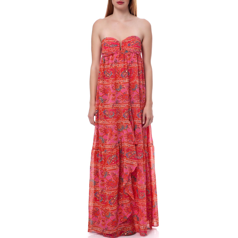 JUICY COUTURE - Γυναικείο φόρεμα Juicy Couture κοραλί γυναικεία ρούχα φορέματα μάξι