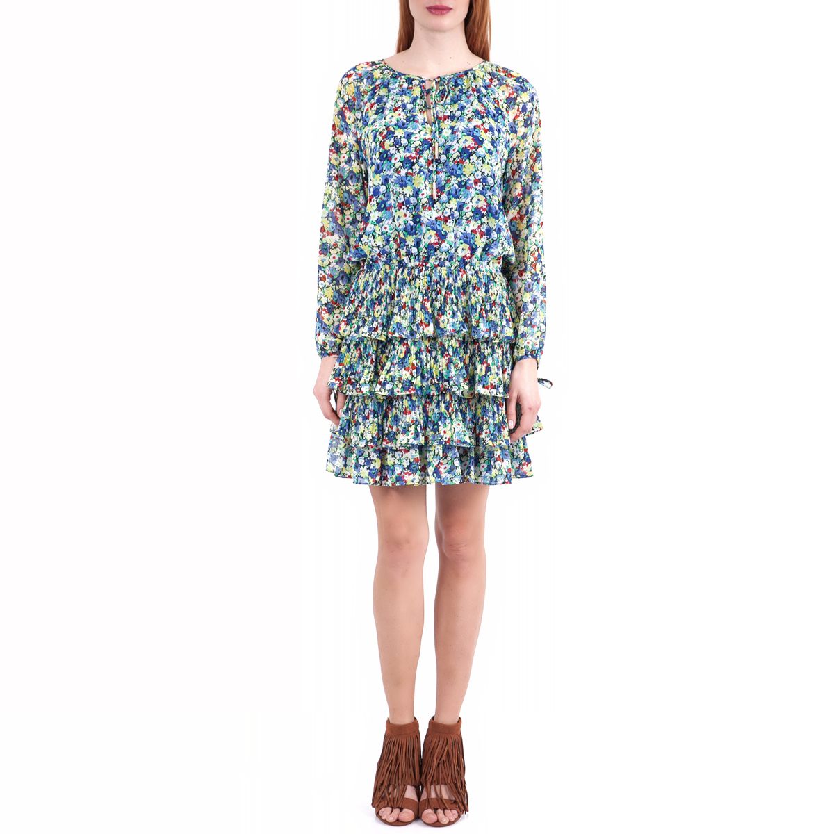 JUICY COUTURE - Γυναικείο φόρεμα Juicy Couture μπλε-πράσινο γυναικεία ρούχα φορέματα μίνι
