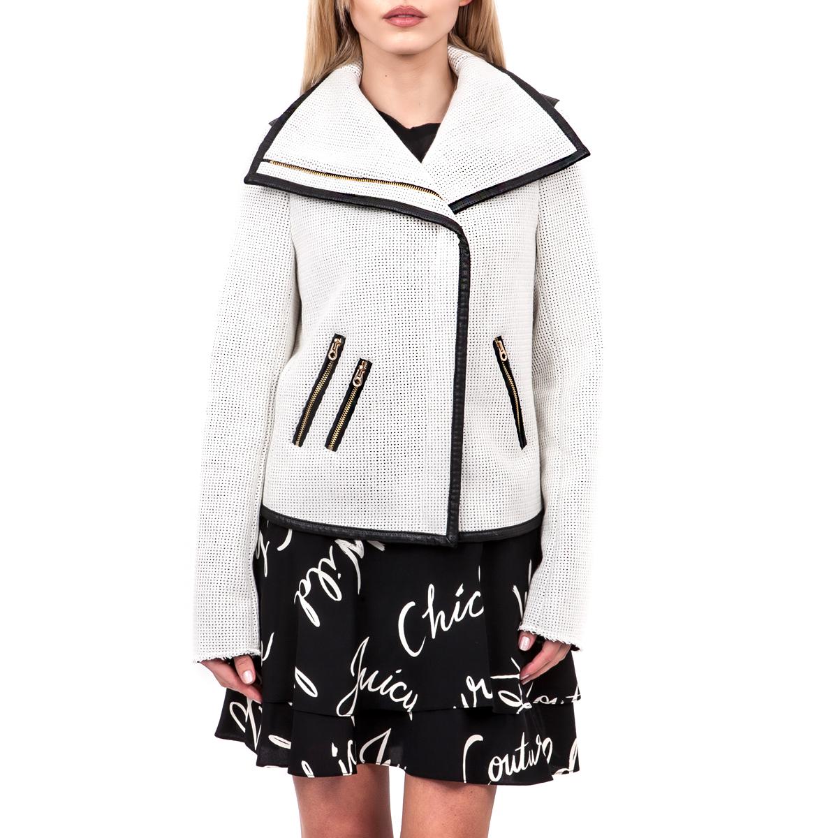 JUICY COUTURE - Γυναικείο μπουφάν Juicy Couture λευκό γυναικεία ρούχα πανωφόρια σακάκια