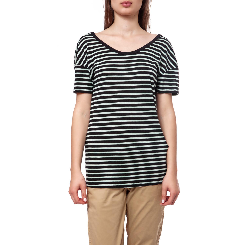 MAISON SCOTCH - Γυναικεία μπλούζα Maison Scotch λευκή-μαύρη γυναικεία ρούχα μπλούζες t shirt