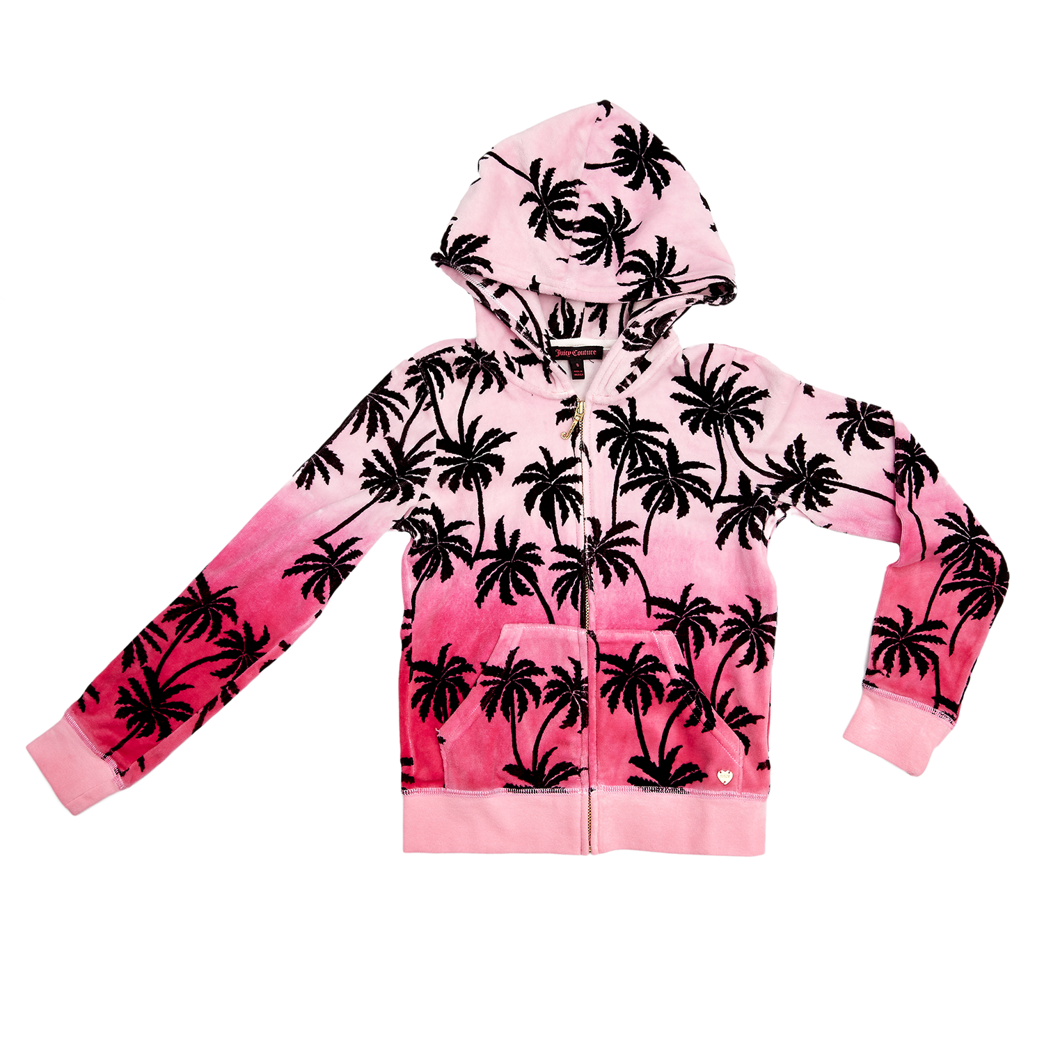JUICY COUTURE KIDS - Παιδική ζακέτα JUICY COUTURE φούξια