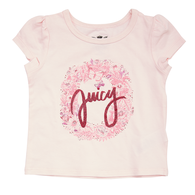 JUICY COUTURE KIDS - Βρεφική μπλούζα JUICY COUTURE ροζ