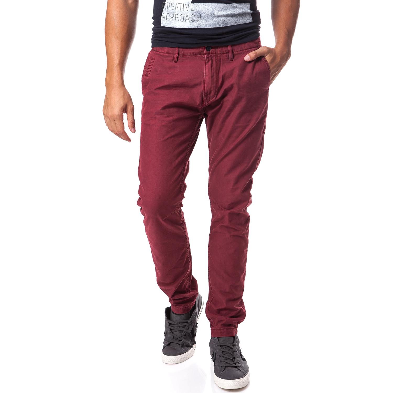 SCOTCH & SODA - Ανδρικό παντελόνι Scotch & Soda μπορντώ ανδρικά ρούχα παντελόνια casual