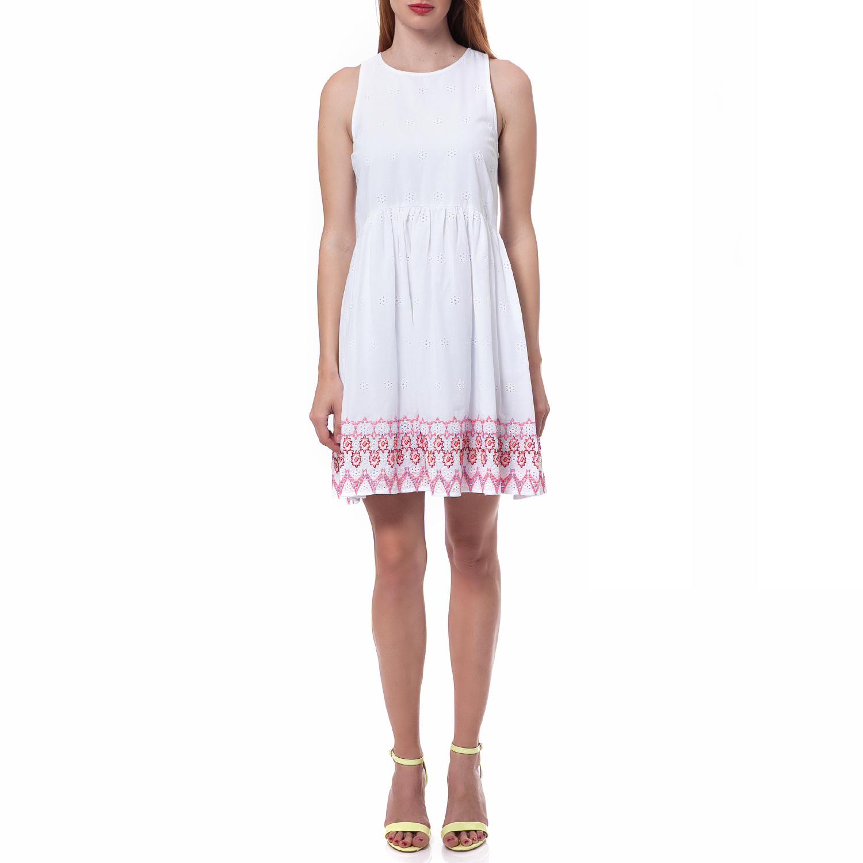 JUICY COUTURE - Γυναικείο φόρεμα Juicy Couture λευκό γυναικεία ρούχα φορέματα μίνι