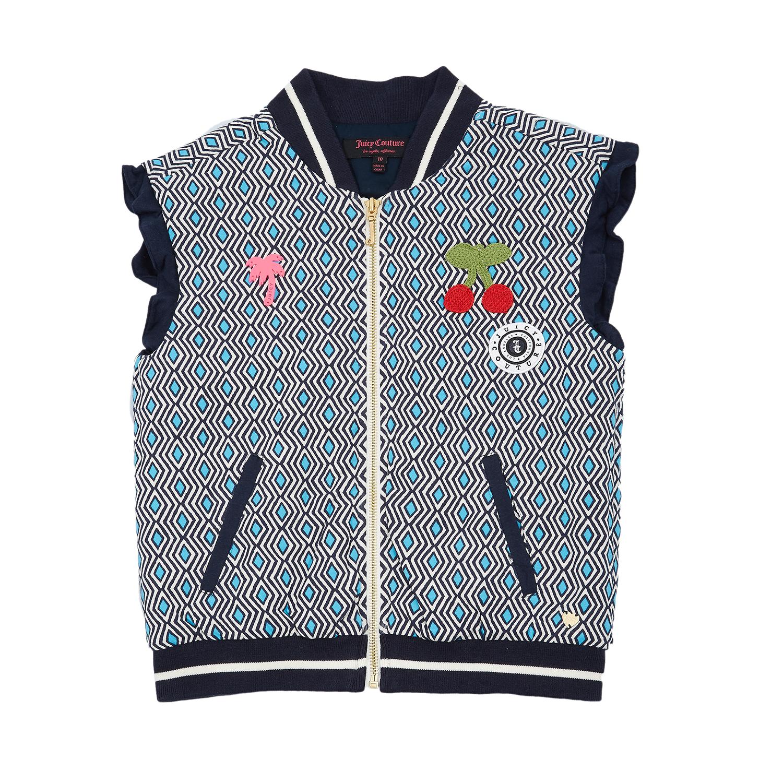 JUICY COUTURE KIDS - Παιδικό γιλέκο Juicy Couture μπλε