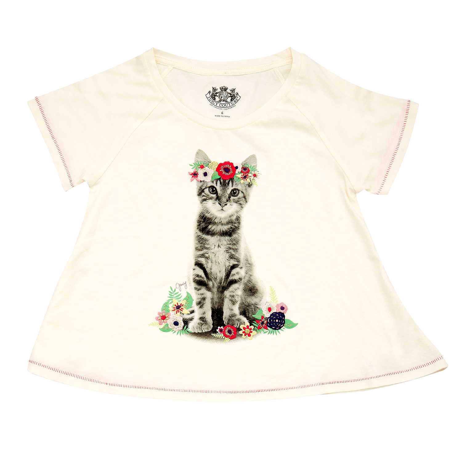 JUICY COUTURE KIDS - Παιδική μπλούζα JUICY COUTURE ροζ