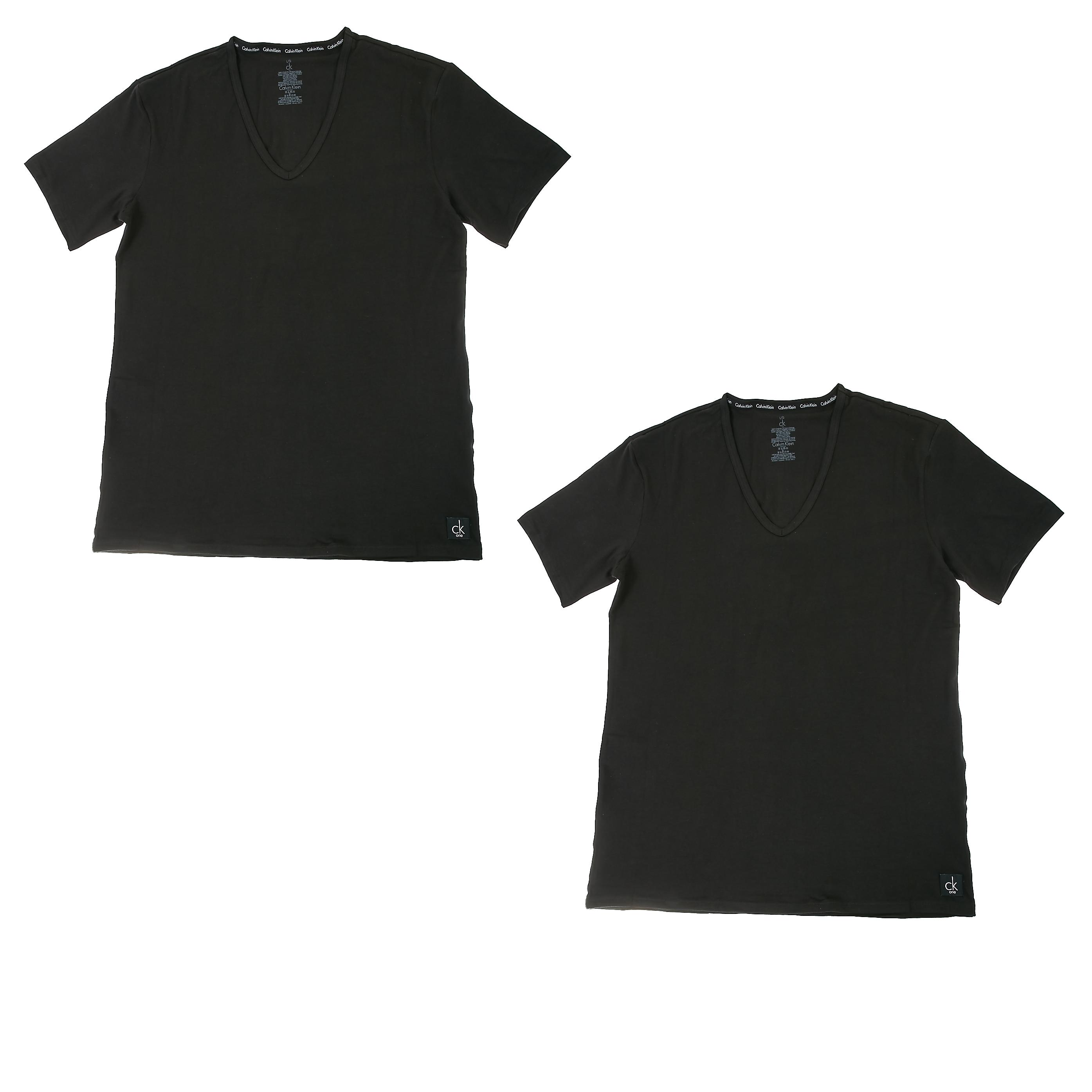 CK UNDERWEAR - Σετ φανέλες Calvin Klein μαύρες