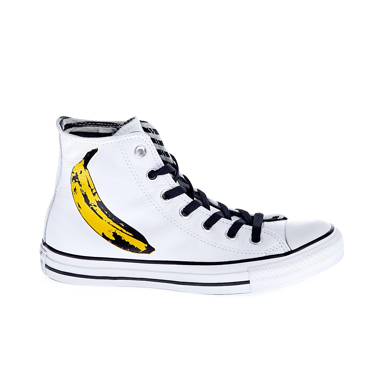 CONVERSE - Unisex παπούτσια Chuck Taylor All Star Andy Warhol λευκά γυναικεία παπούτσια sneakers