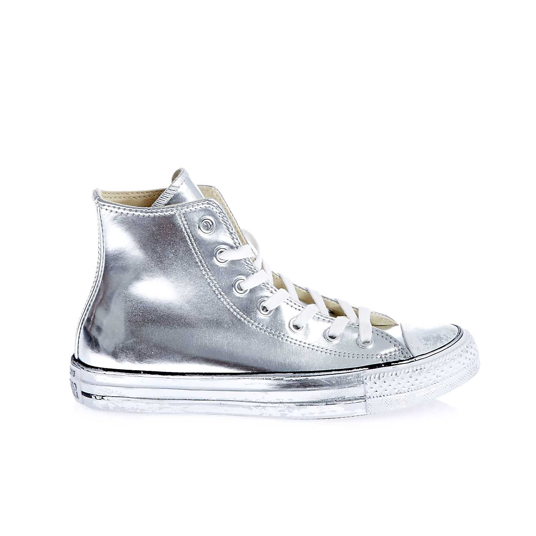 CONVERSE – Γυναικεία παπούτσια Chuck Taylor All Star Chrome L ασημί απόχρωση